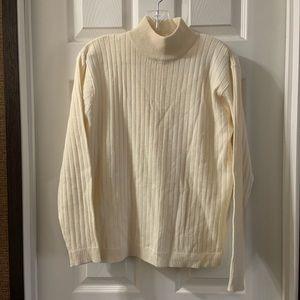 Karen Scott Cream Mock Neck Sweater Size L